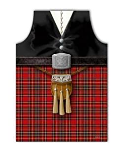Scotland Kilt Apron with sporran design: Amazon.co.uk
