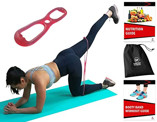 Sargoby Fitness Easy to use Booty Exercise Band | Sculpt & Tone Your Bum Thighs with Brazilian Butt Lift Resistance Band | The Booty Band for Women comes with Workout eBook with Pictures & Exercise Lo (The Best Exercise For Your Buttocks)