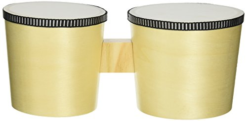 Darice Wood Bongos with Stick, Unpainted ()