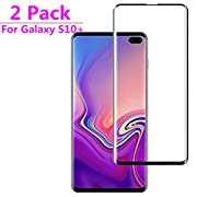 Samsung Galaxy S10 Plus Screen Protector[Black](2 Pack), Caozenb 3D Full Coverage, HD Clear,Anti-Scratch, Bubble Free Tempered Glass Screen Protector for Samsung Galaxy S10 Plus 2019 6.4 inch