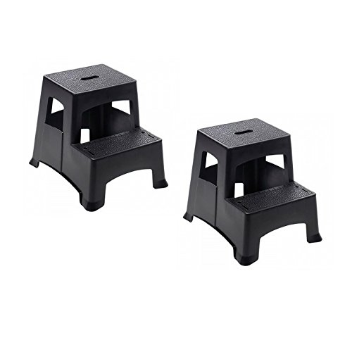 Farm Amp Ranch Farm Amp Ranch 2 Step Plastic Step Stool Black