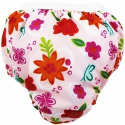 Kushies Potty Taffeta Training Pants - Small - Pink Sunflowers