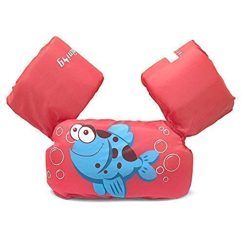 Dark Lightning Baby Floats for Pool,Kids Life Jacket from 30 to 50lbs, Compatible 20-30 Pounds Infant/Baby/Toddler for Girls, Red, ()
