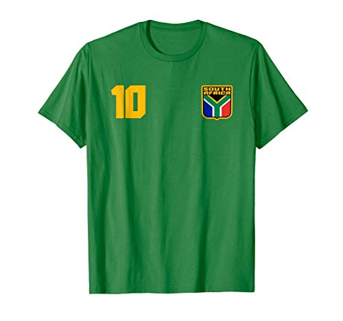 Mens South Africa T-shirt African Flag Soccer Football Fan Jersey Small Kelly Green by Njesuti Team .