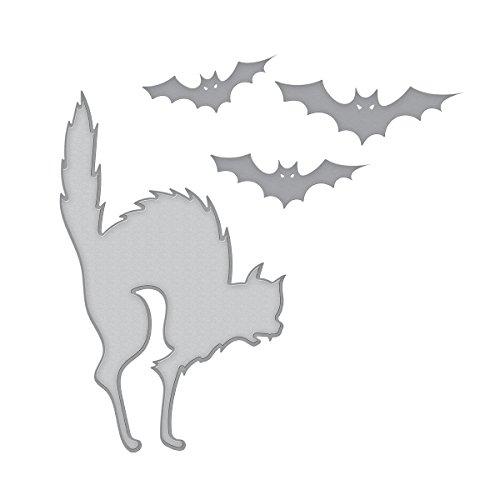 Spellbinders Die D-Lites Cats 'n Bats Etched/Wafer Thin -