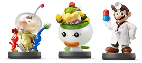 Amiibo Nintendo Dr Mario Bowser Jr  Pikmin   Olimar Japan Ver 3 Set 3Ds Wiiu