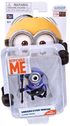 Despicable Me Minion Made Poseable 2 Inch Action Figure Undercover Minion (Minion Gru)