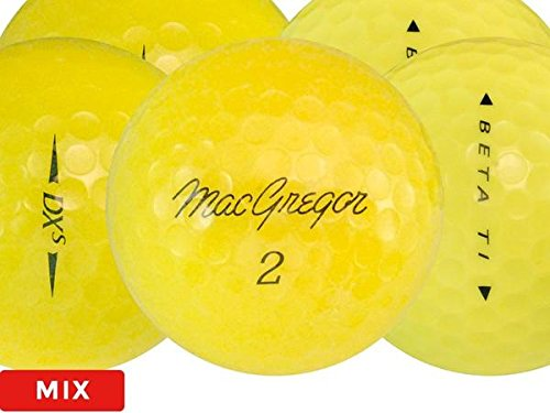 Color Various Brands Recycled Golf Balls in Mesh Bag (Yellow 48 Pack)
