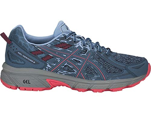 ASICS Women's Gel-Venture 6 MX Running Shoes, 6M, Steel Blue/Pink Cameo