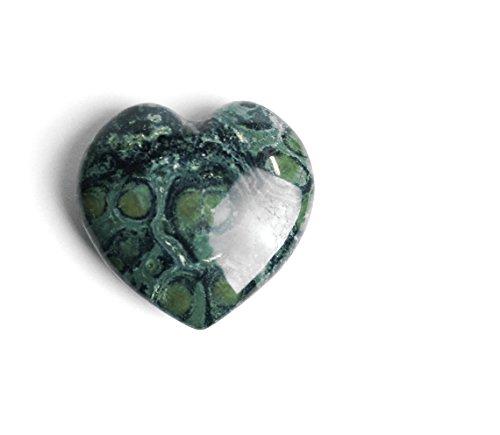 Kabamba Jasper Carved Heart Rock (Heart Stone Precious)