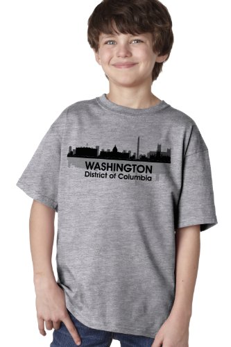 WASHINGTON, DC CITY SKYLINE Youth T-shirt / Capitol, District of Columbia Tee