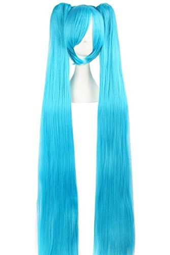 Xcoser Wig Vocaloid Hatsune Miku Cosplay Long Bunches Cosplay wig for Halloween