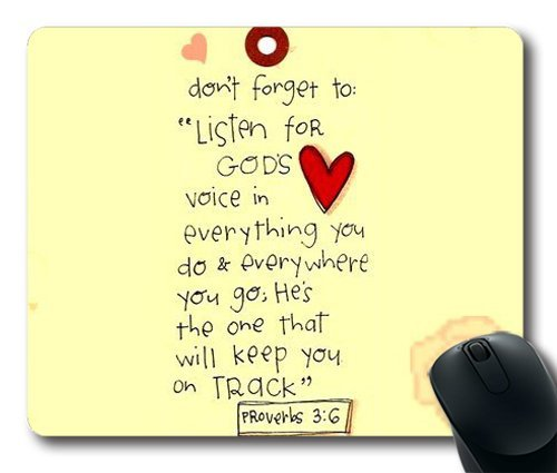 Bible Verse UCFO Customized Mouse Pad Rectangle Mouse Pad Gaming Mouse mat in 240mm*200mm*3mm NE07101108