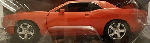 Highway 61 Collectibles Dodge Challenger Concept Super Stock F. F. ERTL 1:18 Die-Cast Metal Car Orange with Black Hood