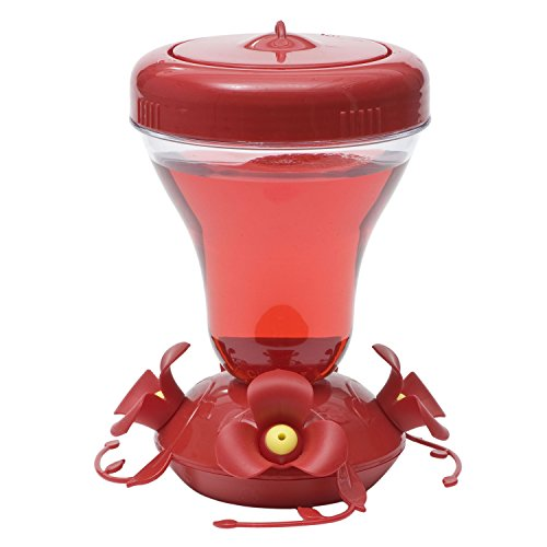 Perky-Pet 120TFN Push Pull Top-Fill 16-ounce Magnolia Plastic Hummingbird Feeder with Nectar
