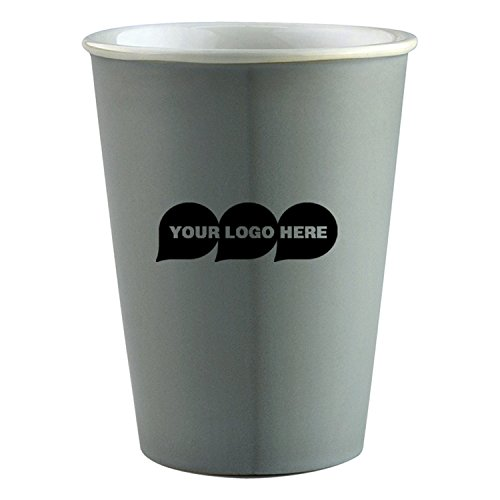 11 Oz/325 ml Eco Friendly / Retro Vibe Ceramic Cup - 48 Quantity - $5.75 Each - PROMOTIONAL PRODUCT / BULK / BRANDED with YOUR LOGO / CUSTOMIZED (Mugs Promotional Ceramic)