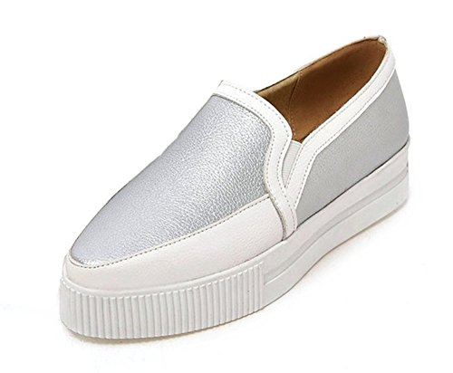 Femme Plateforme Argent Loafers Sneakers Multicolore Aisun Moderne Oq1dxn8OU