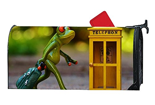 Una Stowe Personalized Mailbox Covers Frog Phone Booth Travel Book Mailbox Makeover Yard,Garden,Home Magnetic by Una Stowe