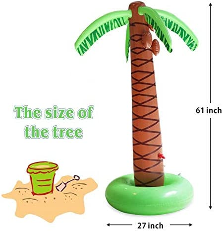 Water Games for Baby Toddlers Boys Girls Dogs Outdoor Backyard Inflatable Palm Tree Kiddie Pool Toys Kosiehouse Sprinkler Splash Water Toys for Kids