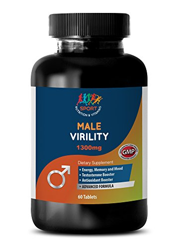 (Male enhancing pills increase size and girth - MALE VIRILITY 1300 Mg - ADVANCED FORMULA - maca andina - 1 Bottle (60)