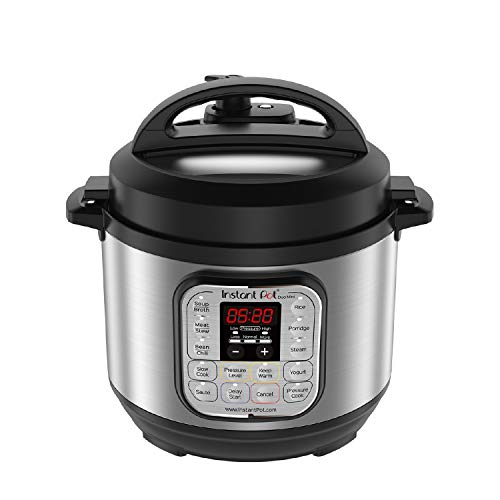 Instant Pot Duo Mini 3 Qt 7-in-1 Multi- Use Programmable Pressure Cooker, Slow Cooker, Rice Cooker, Steamer, Sauté, Yogurt Maker and Warmer (Small Slow Cooker)