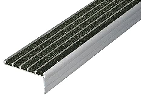 Stair Nosing, Black, 36in W, Extruded Alum