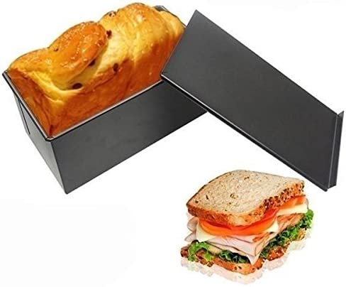 MagiDeal Rechteck Toast Brot Backform Geb/äck Kuchen Brotbackform Mold Backform mit Deckel