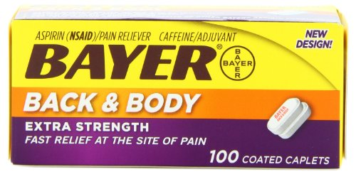 - Bayer Extra Strength Back & Body Caplets 500mg, 100-Count Caplets