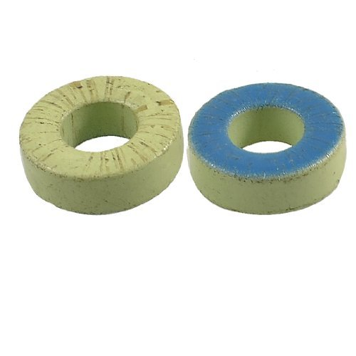 DealMux Power Iron Transformers Ferrite Toroid Cores Green Blue 33x19.5x11.5mm