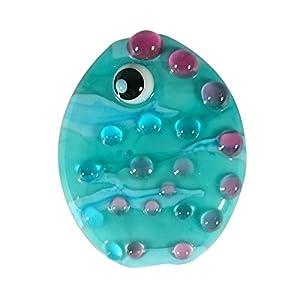 Sansukjai Under Sea Air Bubble Lampwork Murano Glass Beads Long 33mm Effetre Glass Italy