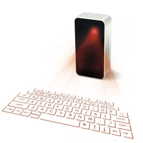 MOJO Bluetooth Wireless Laser Projection Virtual Keyboard Portable Full-Size Keypad (Best Virtual Keyboard For Ipad)