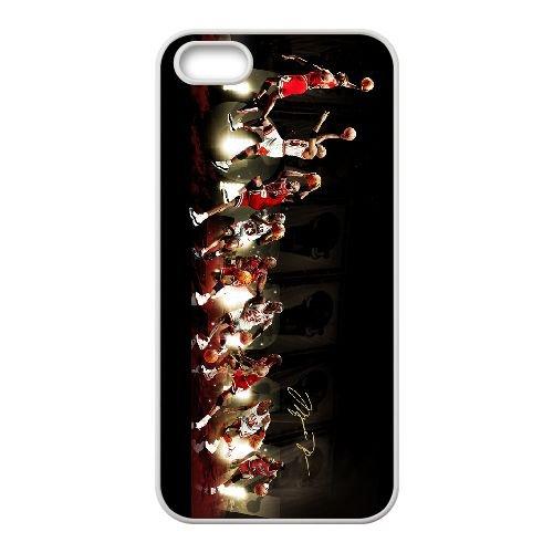 Michael Jordan 015 coque iPhone 4 4S Housse Blanc téléphone portable couverture de cas coque EOKXLKNBC26841