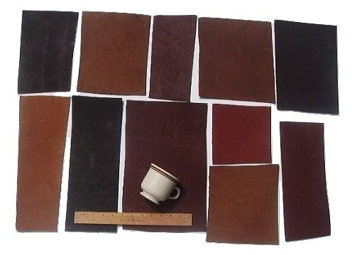 (Scrap Lace Leather Cowhide Mixed Rectangular Pieces 4 SF 2 lbs)