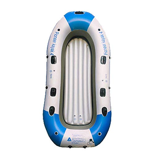 LLSZ Fishing Kayak, Inflatable Touring, Angler, Fishing Boat Fast Travel Includes Paddle, Hard Mounting Points, Bungee Storage,4 People