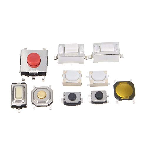 New tactile button switch 250Pcs 10 types of remote control button micro switch TV, audio equipment, VCR switch