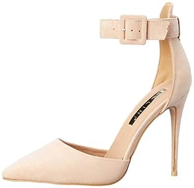 BILLINI Women's Rozalia Shoes, Blush Suede, 5 AU/US