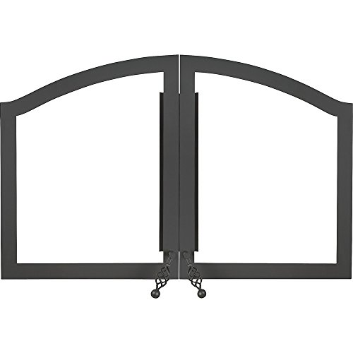WOLF STEEL H335-1K NAPOLEON H335-1K NZ6000 ARCHED DOUBLE DOORS, BLACK (1 PER CASE) by WOLF STEEL