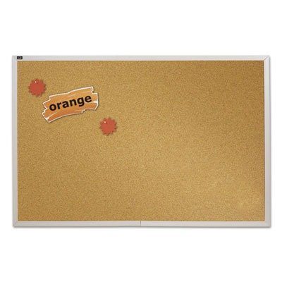 Quartet Natural Cork Bulletin Board, 4-Feet x 6-Feet, Aluminum Frame ()