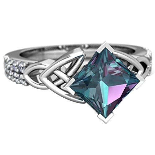 Rurah Silver Mystic Topaz Ring Alluring Beauty Colorful Women's Gifts