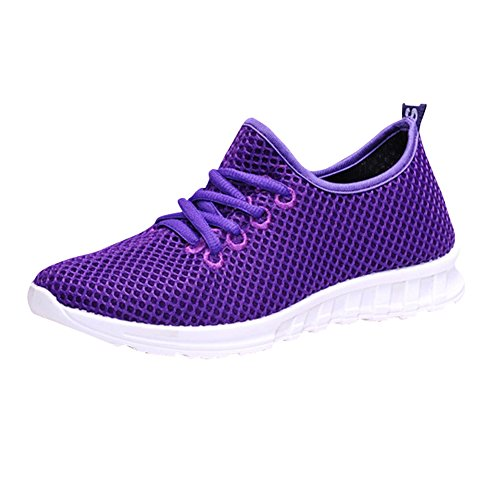 Fereshte Unisex Paar Heren Womens Casual Fashion Sneakers Mesh Ademend Athletic Sportschoenen Paars