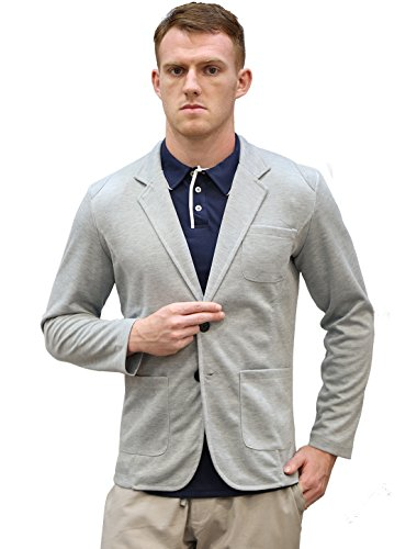 Allegra K Men Classic Notched Lapel Blazer