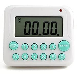 "JIAO- Digital Kitchen Timer Countdown (Random Color),Plastic 2.8""x3.2""x0.8"""