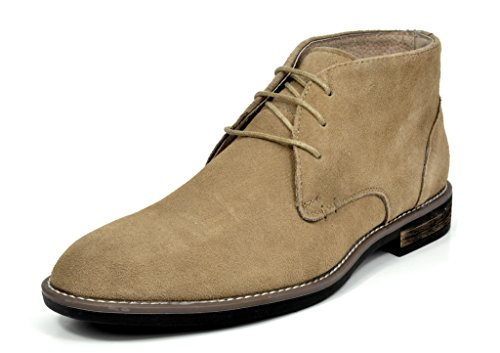 Bruno Marc Men's URBAN-01 Sand Suede Leather Lace Up Oxfords Desert Boots - 11 M US (Leather Sand Boots)