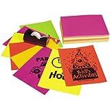 "Neon Bond Paper, 8 1/2""X11"", Assorted Five Colors, 100 Sheets"