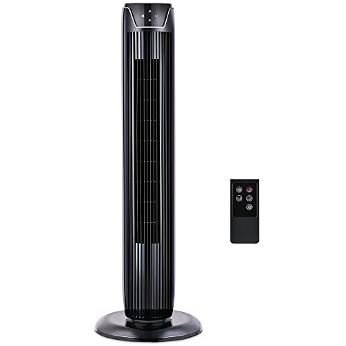 Fan, Tower Fan Oscillating with LED Display, 3  Speeds and Modes, Remote Control, 7h Programmed Timer, 36-Inch, by Pelonis