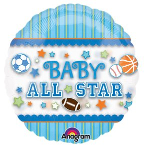 Amazoncom Its A Boy Baby Shower All Star Sports Balloons
