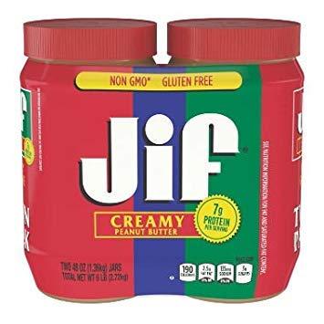Jif Creamy Peanut Butter (48 oz, 2 pk.) ES