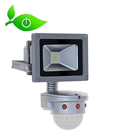 LED para exteriores con sensor de movimiento 10 W 850 lm 5000 K blanco neutro,