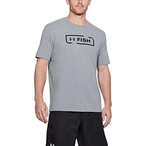 Under Armour Men's Fish Icon T-Shirt, Black, ()