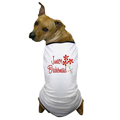 CafePress - Bouquet Junior Bridesmaid Dog T-Shirt - Dog T-Shirt, Pet Clothing, Funny Dog Costume